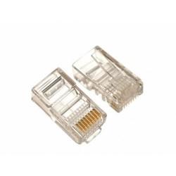 Mufa RJ45 UTP cat.5e 30 microni, cablu solid(100buc)