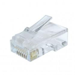 Mufa RJ45 UTP cat.6 30 microni, cablu solid(50buc)