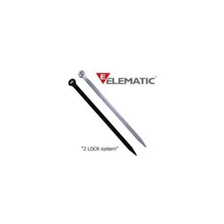 Brida plastic 2-LOCK 4,5 x 250 black (100buc) - ELEMATIC