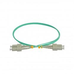Patchcord FO SC/PC-SC/PC, MM OM3 50/125, manta LSZH 2.0mm, duplex 15m