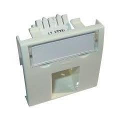 Conector inclinat, 1xRJ45 UTP cat.5e, 45x45 PowerCat, alb, (compatibil Legrand Mosaic) - Molex