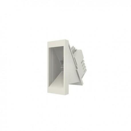 Conector inclinat, 1xRJ45 FTP cat.5e, 22.5x45 PowerCat, alb, (compatibil Legrand Mosaic) - Molex
