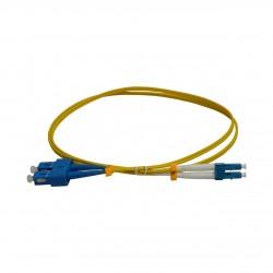 Patchcord FO SC/PC-LC/PC, SM OS2 9/125, manta LSZH 2.0mm, duplex 1m