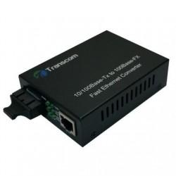 Mediaconvertor 10/100M 1310/1550nm WDM, Type A Singlemode 80km, conector SC - TRANSCOM