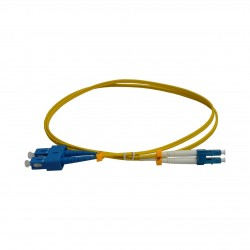 Patchcord FO SC/PC-LC/PC, SM OS2 9/125, manta LSZH 2.0mm, duplex 3m