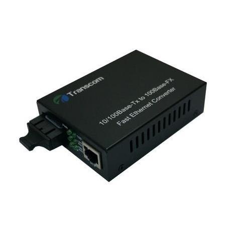 Mediaconvertor 10/100M 1310/1550nm WDM, Type A Singlemode 100km, conector SC - TRANSCOM