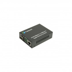 Mediaconvertor 10/100/1000M 1 port RJ45, 1 SLOT SFP - TRANSCOM