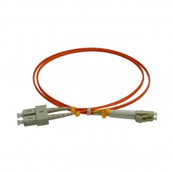 Patchcord FO SC/PC-LC/PC, MM OM2 50/125, manta LSZH 2.0mm, duplex 1m