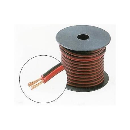 Cablu difuzor plat rosu-negru 2 x 0,75 / Emtex (100m)