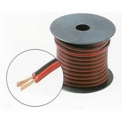Cablu difuzor plat rosu-negru 2 x 0,50 / Emtex (100m)