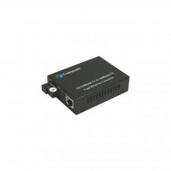 Mediaconvertor 10/100M 1310/1550nm WDM, Type A Singlemode 40km, conector SC - TRANSCOM