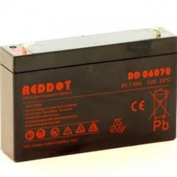 Acumulator stationar 6V 7Ah, F1/T1, Reddot