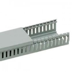 Canal cablu PVC perforat 25X25MM 2M/BUC, gri - Canalux