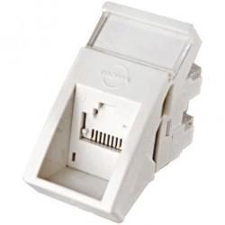 Conector inclinat, 1xRJ45 UTP cat.6, 22.5x45 PowerCat, alb, (compatibil Legrand Mosaic) - Molex