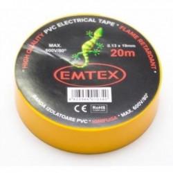 Banda izolatoare ignifuga Emtex 20 m / galben